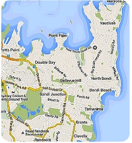 dog walking eastern suburbs map
